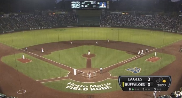 【衝撃野球動画】これはビビる! オリックスvs楽天の試合中に原因不明の怪事件が発生