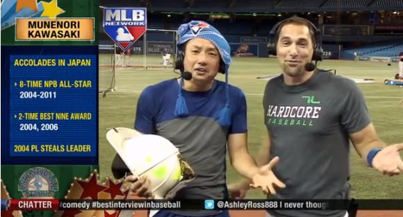 【衝撃野球動画】トロントの爆笑王! 川崎ムネリンがまたもやインタビュアーをヒィヒィ大爆笑させている動画が話題 / 息をするだけで笑わせるレベル