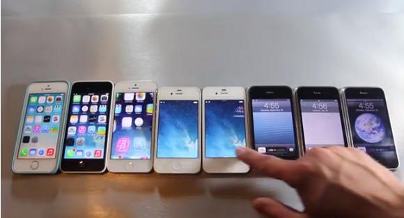 ガチンコ対決! 歴代iPhoneの動作スピード比較をした動画が公開される / ちょっと意外な結果が話題に