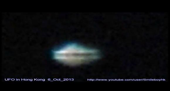 """【衝撃UFO動画】 香港で """"どら焼き"""" のようなUFOが激写される"""
