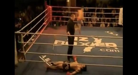 【衝撃格闘動画】キックの試合で失神レベルの完全KO → 数秒後に「むくり」と復活 → その後まさかの結末に