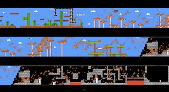 【衝撃ゲーム動画】974人が一斉に「スーパーマリオブラザーズ」をプレイするとこうなる