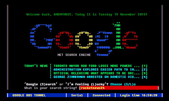 Google BBS Terminal3
