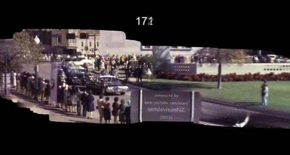 【閲覧注意】ケネディ大統領暗殺事件の映像を高画質パノラマサイズ&動きを滑らかにした動画が公開される