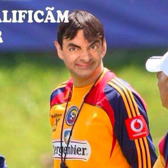 【衝撃サッカーニュース】ルーマニアの選手が代表に招集されず → 腹いせに監督とミスター・ビーンをコラージュ → 代表から永久追放