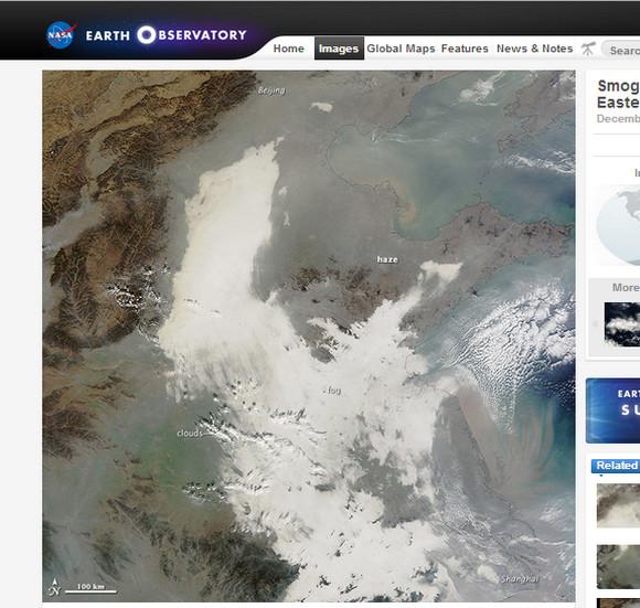 【衝撃】宇宙から見た中国が大気汚染の影響で地形が判別できない件 / 中国ネットの声「ヤバい! 長江が見えない!!」