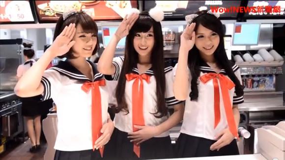 台湾マクドナルド再び! 今度は女子店員が「猫耳 × セーラー × ニーソ」で接客だ!! ネットの声「台湾の暴走が止まらない」