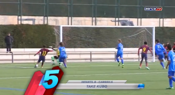 【衝撃サッカー動画】スペインでプレーする12歳の天才日本人少年が芸術的ループシュートを披露 / ネットの声「何この大空翼」