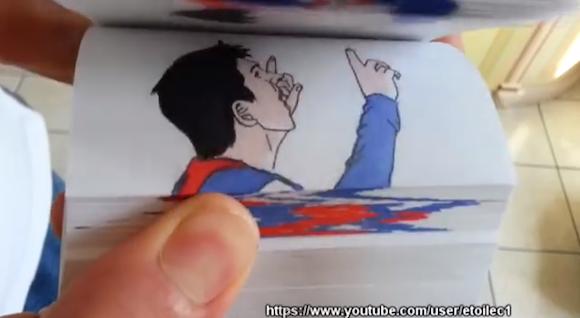 【衝撃サッカー漫画】メッシ選手のスーパープレーを再現したパラパラ漫画がリアルすぎてスゴい!