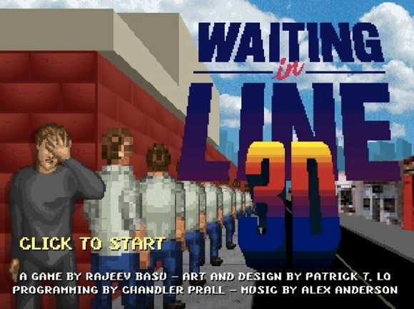 【やってみて】史上最高に退屈なゲーム「WAITING IN LINE 3D(行列3D)」が話題 / マジで眠くなるほど退屈
