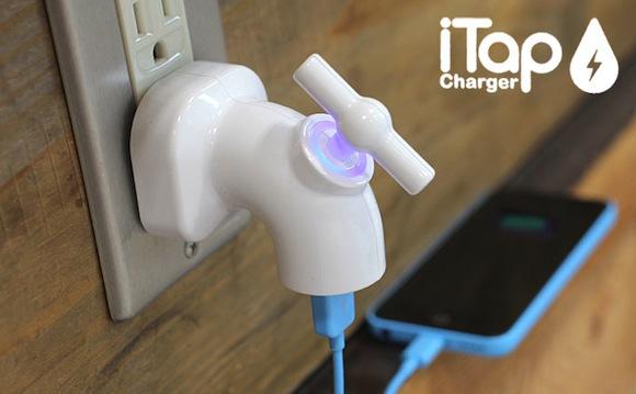 【素敵な充電ライフ】電気も蛇口でコントロール! 蛇口式USB充電器で節電するぞー!
