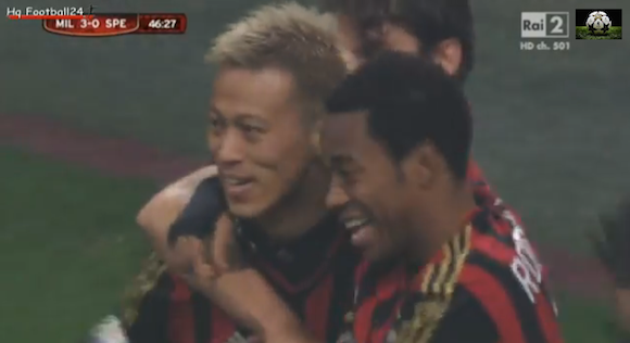 【衝撃サッカー動画】本田圭佑選手がACミランに移籍後初スタメンで初ゴール! ネットの声「本田さんマジ持ってる」