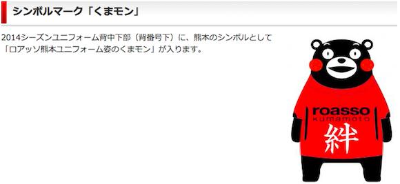 【衝撃サッカーニュース】ロアッソ熊本のユニフォームに『くまモン』が入ることが判明 / ネットの声「しかしくまモンはどこにでも湧いてくるなw」