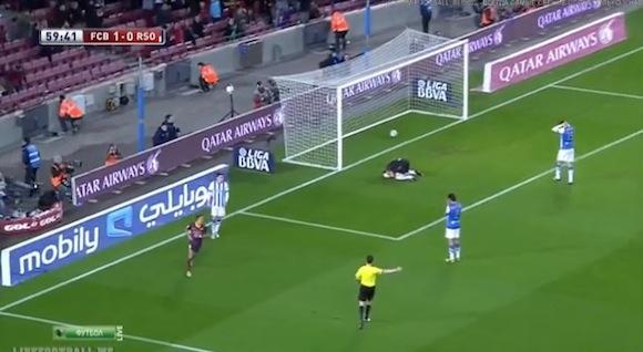 【衝撃サッカー動画】スペインサッカーでネタのようなオウンゴールが炸裂したと話題