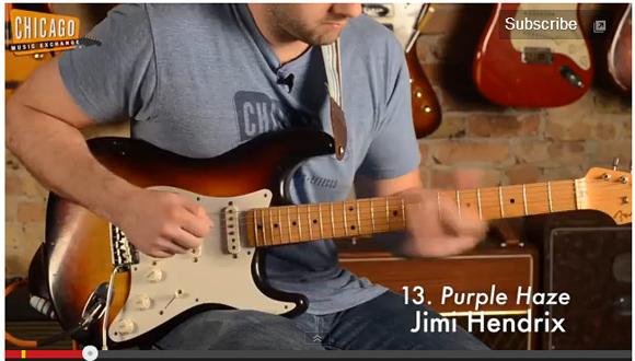 【ギターリスト必見】歴史的に有名なギターリフ100連発! シカゴの楽器店が公開した映像がマジでスゴイ!!