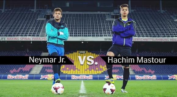 【衝撃サッカー動画】ネイマール選手と15歳天才少年のフリースタイル対決がカッコよすぎてヤバい!!