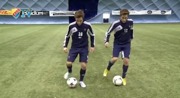 【衝撃サッカー動画】リアル『キャプ翼』立花兄弟! 双子の息の合った足技がスゴい!!