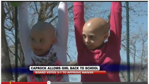 がん治療中の友達のために丸坊主になった少女 → 校則違反で停学 → 学校に批判殺到で処分取り消しに