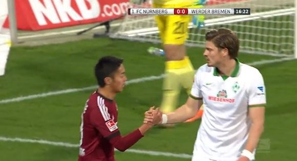 【感動サッカー動画】ドイツの公式サイトで賛辞を贈られている清武弘嗣選手らのフェアプレーが素晴らしいと話題