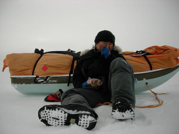 【北極冒険18日目】ブリザードによる足止めを取り返すように前進 / 今回初の10km超えを記録