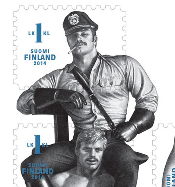 【ハード路線】フィンランドの切手が男らしくてカッコイイと話題 / 描いたのは世界的な巨匠トム・オブ・フィンランド