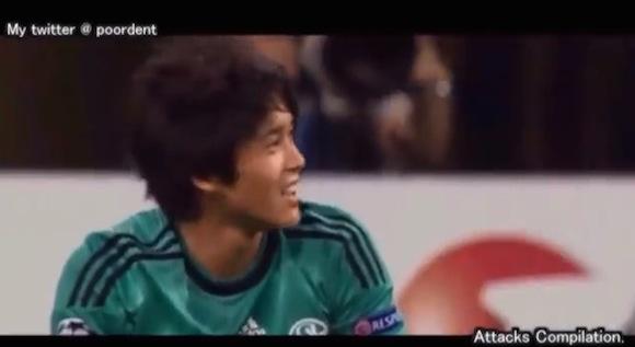 【衝撃サッカー動画】ドイツで大きく成長した日本代表の右サイドバック「内田篤人」がどんな選手か一発でわかる動画がコレだ!!