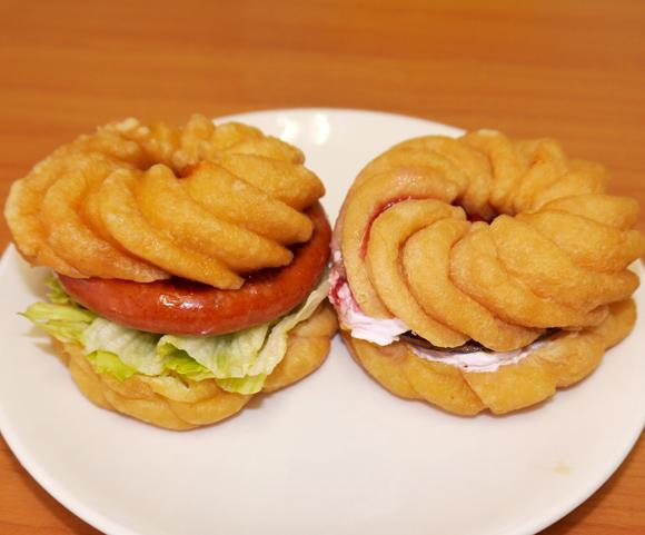 【グルメ】モスとミスドが「ライスバーガー」と「フレンチクルーラー」をトレードした新商品4種を食べてみた