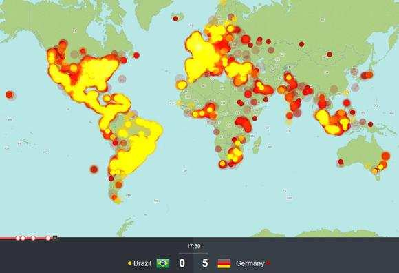 【図解】ドイツに歴史的大敗を喫したブラジル / 5点目を奪われた瞬間にTwitterは世界的に炎上状態だった