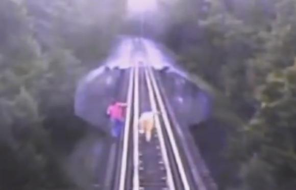 【閲覧注意】映画『スタンド・バイ・ミー』のあのシーンが現実に! 鉄橋の上を歩く2人の女性に列車が接近 / 一部始終を収めた動画がスリリングすぎる!!