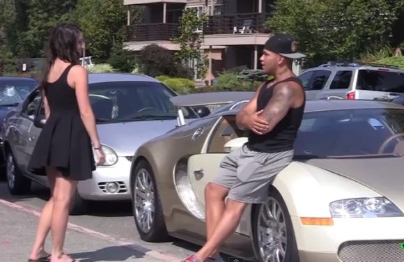 【ドッキリ動画】超高価なスーパーカーを使って女性をナンパしたらこうなった / 恐るべき『ブガッティ・ヴェイロン』効果が判明