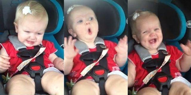 車内でグズりだした赤ちゃんが「ケイティー・ペリーの曲」が流れたとたん超ノリノリに! カワイ過ぎてビデオ再生回数1200万回突破!!