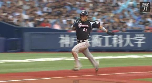 【衝撃野球動画】これぞプロのプレー! ロッテ・角中選手が見せた一瞬の隙を突く神走塁が素晴らしい!!