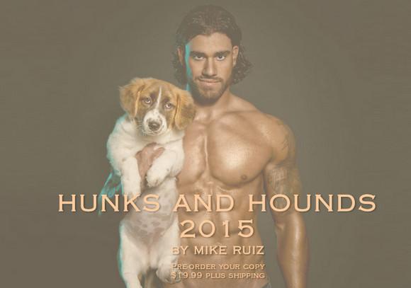剛と柔が融和した!! ガチムチ兄貴が萌えキュンワンコを抱いているカレンダー「イイ男と猟犬 2015」が眼福だと話題!