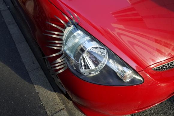 【検証】ニューヨークでは当たり前と噂の「車のまつ毛」をつけてみた / 車が女の子になっちゃった!