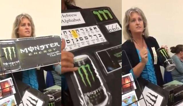 """エナジー飲料『モンスターエナジー』のロゴは """"悪魔の数字666"""" だと力説する女性が登場して話題に! 悪魔崇拝を促していると主張"""