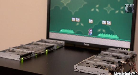 【神業動画】これはスゴい! フロッピーディスクを読み込む音で『スーパーマリオ』の BGM を完全再現!!