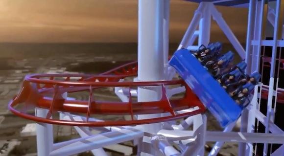 【閲覧注意】世界一の高さから落下するジェットコースターがCG映像の時点ですでに怖い