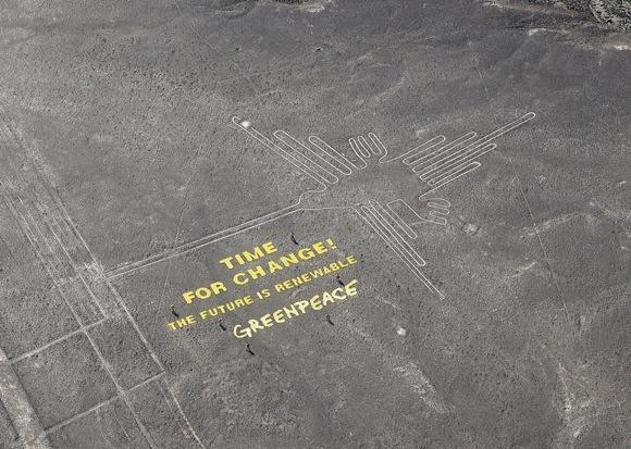 グリーンピースがナスカの地上絵に残したメッセージにブチギレたのはペルー政府だけではなかった! 月刊ムー編集長「これはダメだ。そもそも認識が甘い」