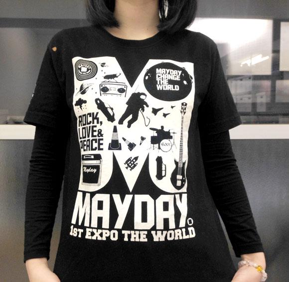 """【俺のTシャツ】 """"メイド・イン・台湾"""" はコスパ最強説! やたら頑丈な『台湾バンド """"メイデイ"""" のライブTシャツ』 4年前に南京で買ったやつ"""
