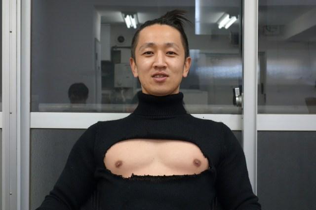 【男性必見】今話題の「胸開きタートルネック」を男子が着るとハンパじゃなくカッコいい / 女子には出せない魅力を発揮することが可能