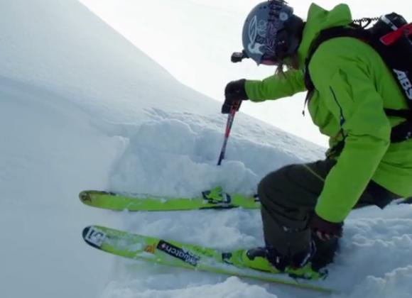 【スキー】命知らず過ぎる! V字型の狭い山の隙間を滑るスキーヤーの動画がヒヤヒヤもの / そのV字は『放課後電磁波クラブ』のビキニ以上に細長