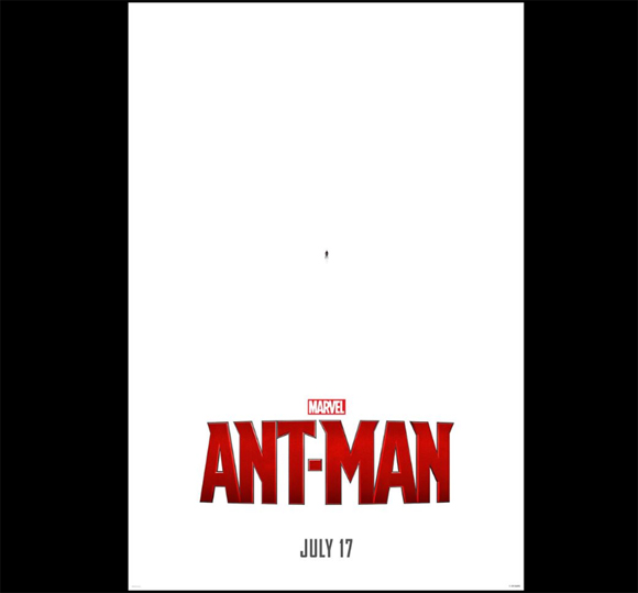 マーベル新作映画『アントマン』のポスターが斬新すぎる! アメコミヒーローなのに小さすぎて見えないッ!? ティーザー映像もちいさッ