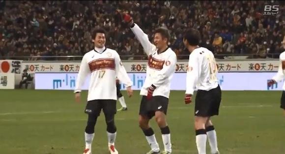 【動画あり】チャリティーマッチでキングカズが2得点! 2種類の異なるカズダンスを披露!!