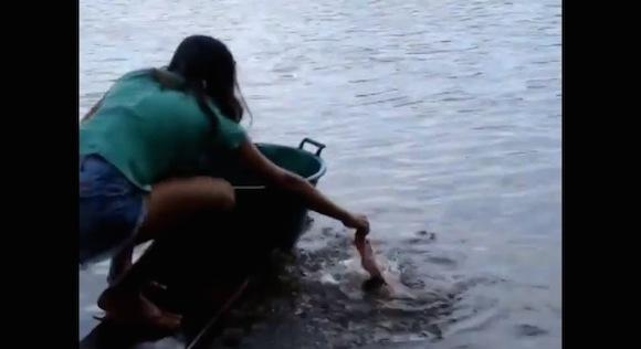 【衝撃動画】ブラジルの「ピラニアを釣る方法」がワイルドすぎる