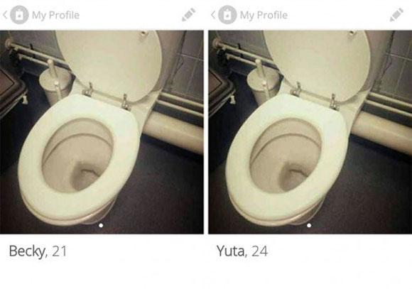 【独自調査】海外で大流行中の出会い系アプリ「Tinder(ティンダー)」で便器の写真をプロフィールにしたらこんな結果になった