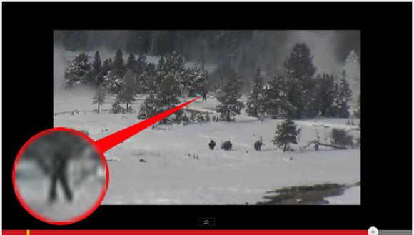 【衝撃動画】あきれるほど退屈な国立公園の映像に突然の異変! 直立歩行するビッグフットが一度に4体も撮影される