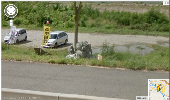 長野県上田市に無許可で設置された「ナゾの石像」がストリートビューで確認できると判明! 一体なぜココに!?