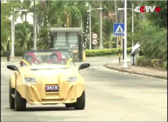【動画あり】中国企業が3Dプリンタで作った自動車を披露 / マジかよ!? ちゃんと道路を走ってるぞ!