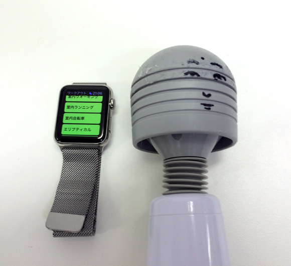 【検証】電動マッサージ機にアップルウォッチを着けて「ワークアウトアプリ」で100キロカロリーの消費時間を計ってみた!