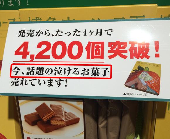 博多で売っていた「泣けるお菓子」を買ってみた → 1ミリも泣けないが付属の物語が超展開すぎてかなりビビッた